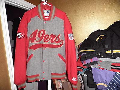 Vintage San Francisco 49ers Throwback Wool Starter Varsity Jacket XL Mint!