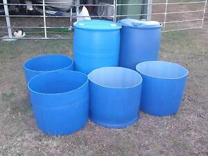 BLUE PLASTIC DRUMS.. 205 LITRES   ( 44 GALLONS ) Ipswich Ipswich City Preview