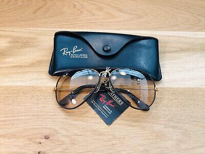 Vintage Ray Ban Aviators Leather B&L Sunglasses Bausch&Lomb USA 62mm Photo Bro, usado segunda mano  Embacar hacia Mexico