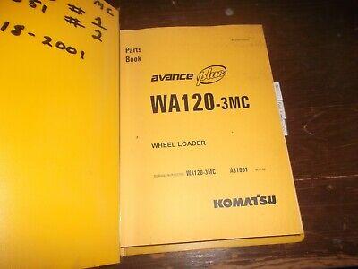 Komatsu Wa120-3mc Front End Wheel Loader Tractor Parts Catalog Manual Book