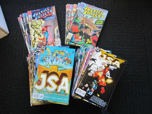 Justice Society of America 107 books, 1991 1 to 8, 1992 1 to 10, 1999 1 to 87,