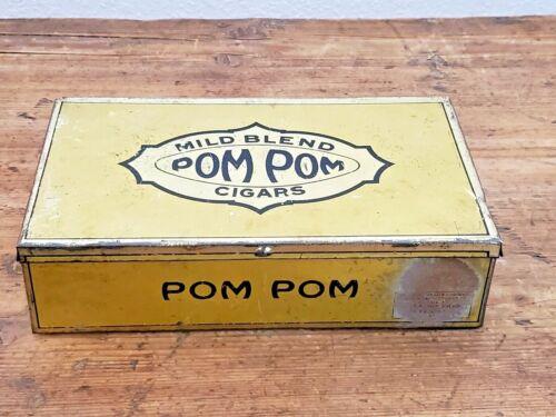 Vintage Pom Pom Mild Blend Metal Cigar Box