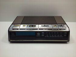 Vintage GE Digital alarm clock AM FM radio. Model 7-4646A Woodgrain 80s