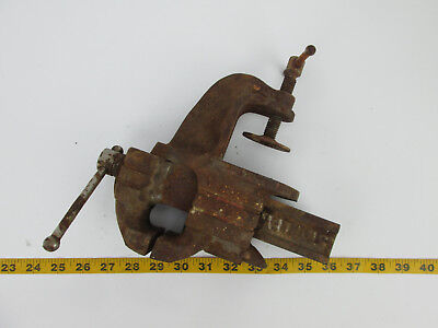 Vintage Stanely Vice Clamp On Bench Jaw CS