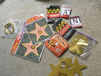 Hollywood 'Lights, Camera, Action' Movie Theme Birthday DECOR LOT STARS - Star Theme Decorations