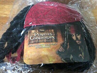 Neu Disney Kostüm Fluch der Karibik Jack Sparrow Kopf mit - Disney Fluch Der Karibik Kostüm