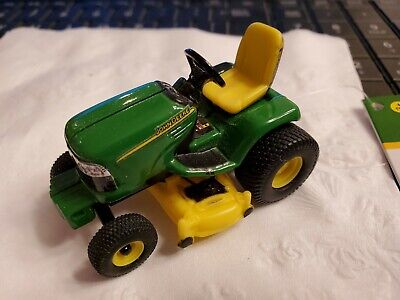 JOHN DEERE, RIDING TRACTOR, WITH LAWN MOWER DECK, MADE BY TOMY