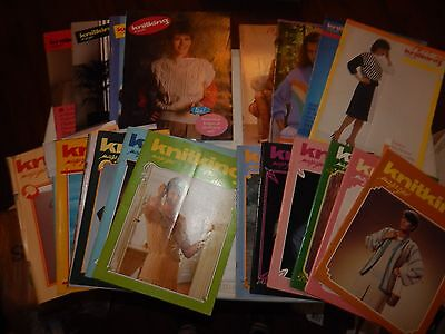 LOT OF 20 VINTAGE KNITKING MAGAZINES KNITTING SEWING RETRO PATTERNS