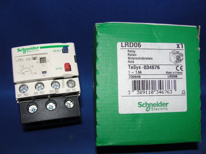 """SCHNEIDER ELECTRIC LRDO6 OVERLOAD RELAY """"NIB"""""""