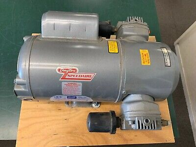 Dayton Speedaire Compressor Model 2z870a Doerr Lr22132 Electric Motor 34 Hp