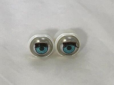 Lt Blue Doll Eyes - Custom 13mm will fit American Girls bitty baby (#2)