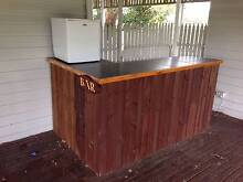 Solid Wood and Slate Tile Bar - Plus Bar Fridge and Plaque Pakenham Cardinia Area Preview