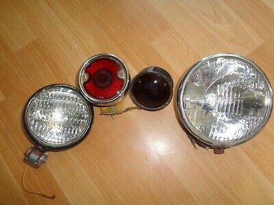 4 Vintage Tractor Lights Neat Group