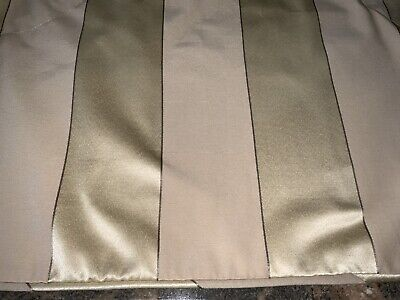 """CLASSIC COUNTRY CURTAINS WIDE STRIPE AUSTRIAN VALANCE~BEIGE/GOLD 80""""W"""