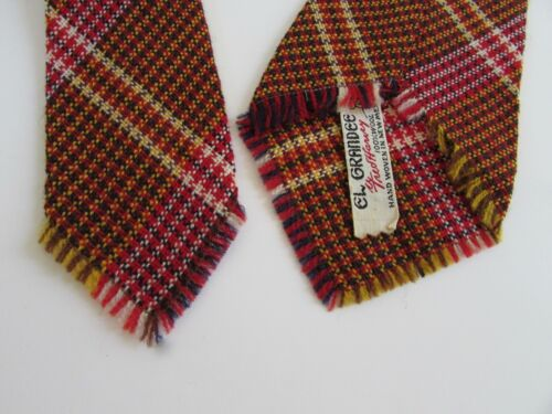 Rare Vintage El Grandee Fred Harvey Hand Woven in New Mexico Southwest Wool Tie