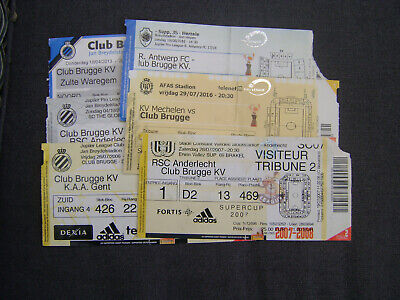 6 TICKETS CLUB BRUGGE  (3 x HOME - 3x UIT)