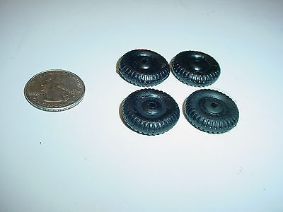 4 NOS Replacement Rubber Wheels For Hubley Cast Iron  Diecas