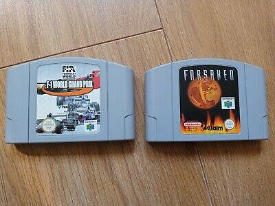 Forsaken & F1 World Grand Prix Nintendo N64 GAMES, CHEAPEST ON E-BAY!