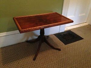 """Antique Duncan Phyfe Coffee Table, 25.5"""" x 15.25"""" x 17.5"""""""