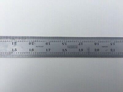 Starrett 36 Long 132 164 116 18 Tempered Satin Chrome Ruler