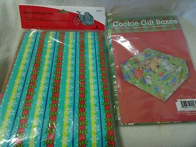 Christmas Gift Boxes For Cookies (LOT OF NEW GIFT BAGS/BOXES-COOKIES OR OTHER BAKED GOODS + JUMBO GIFT BAG FOR)