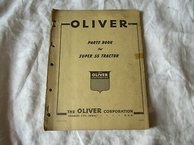 Oliver 55 Tractor Parts Book Catalog Manual