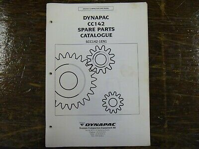Dynapac Cc142 Vibratory Smooth Drum Roller Compactor Parts Catalog Manual