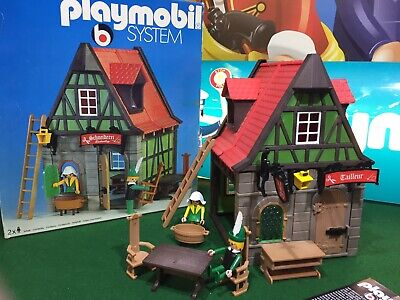 Playmobil 3440 Vintage Tailors Cottage & Figures**Amazing Condition**Rare Boxed