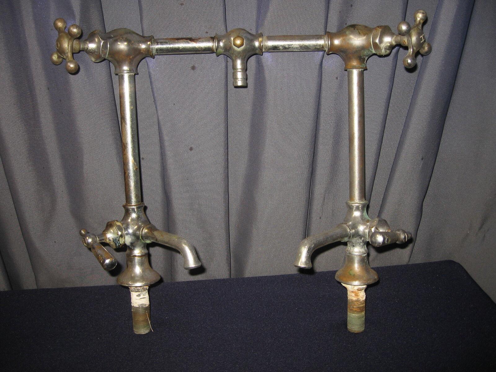 Rare Barber Shop Beauty Salon Vintage Sink Shower Faucets Antique ...