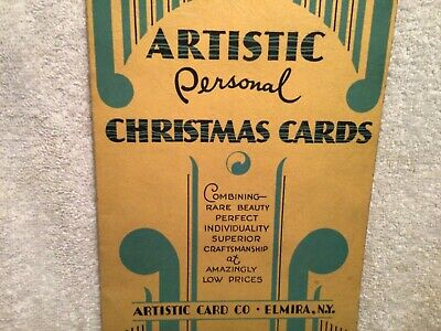 Vtg. Booklet Advertises Artistic Card Co. Elmira NY Personalized Christmas Cards