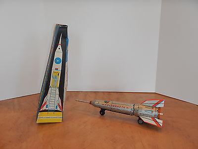 1960's TIN FRICTION SPACE ROCKET TOY LEMEZARU GYAR HOLDRAKETA  HUNGARY NOS
