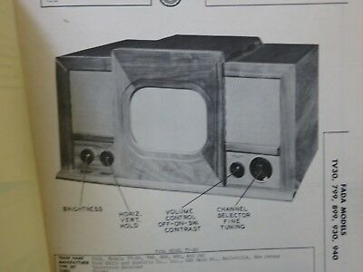 1949 RARE Vintage Booklet/RCA Zenith Tele Tone Victor Television TV Part Console for sale  Shipping to Canada