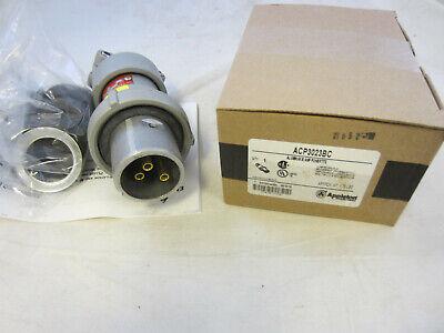 Appleton Acp3023bc 30 Amp 2w 3p Plug New In Box Mates W Adr3023