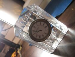 vintage  Waterford  crystal  table clock (with new Battery )