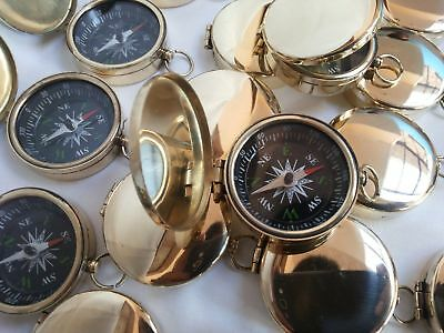Brass Vintage Lid Compass 45 mm Lot Of 25 Pcs Marine Collectible
