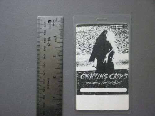 Counting Crows backstage pass laminated AUTHENTIC Recovering The Satellites !