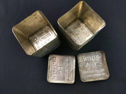 2x ceylon lipton tea Vintage Metal Tin Cans
