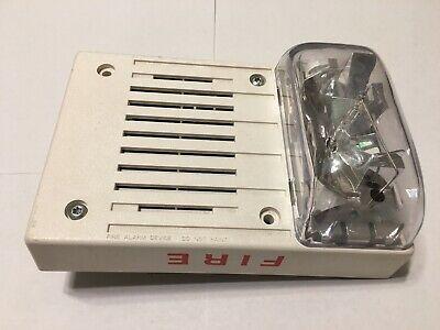 Simplex 4906-9142 Ceiling Mount Multi-candela Fire Alarm Horn Strobe White
