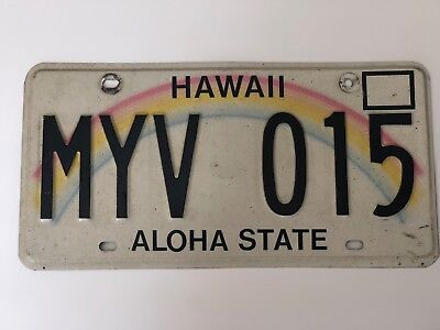 Hawaii License Plate * ALOHA STATE *
