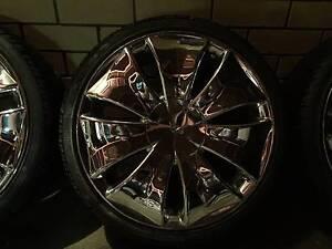 Alloy Wheel Chrome Alba Bertha 18 inch Wheels with Good Tyres Mount Gravatt East Brisbane South East Preview