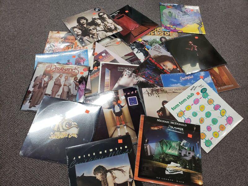 BULK LOT OF 50 STILL SEALED ORIGINAL VINYL RECORD ALBUMS POP, ROCK, COUNTRY, R&B