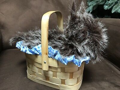 "WIZARD OF OZ ""TOTO IN BASKET"" ACCESSORY COSTUME HALLOWEEN DRESS UP CUTE!!"