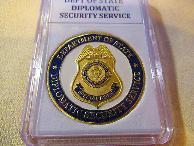 Department Of State Diplomatic Security Service Challenge Coin  Gold Finish