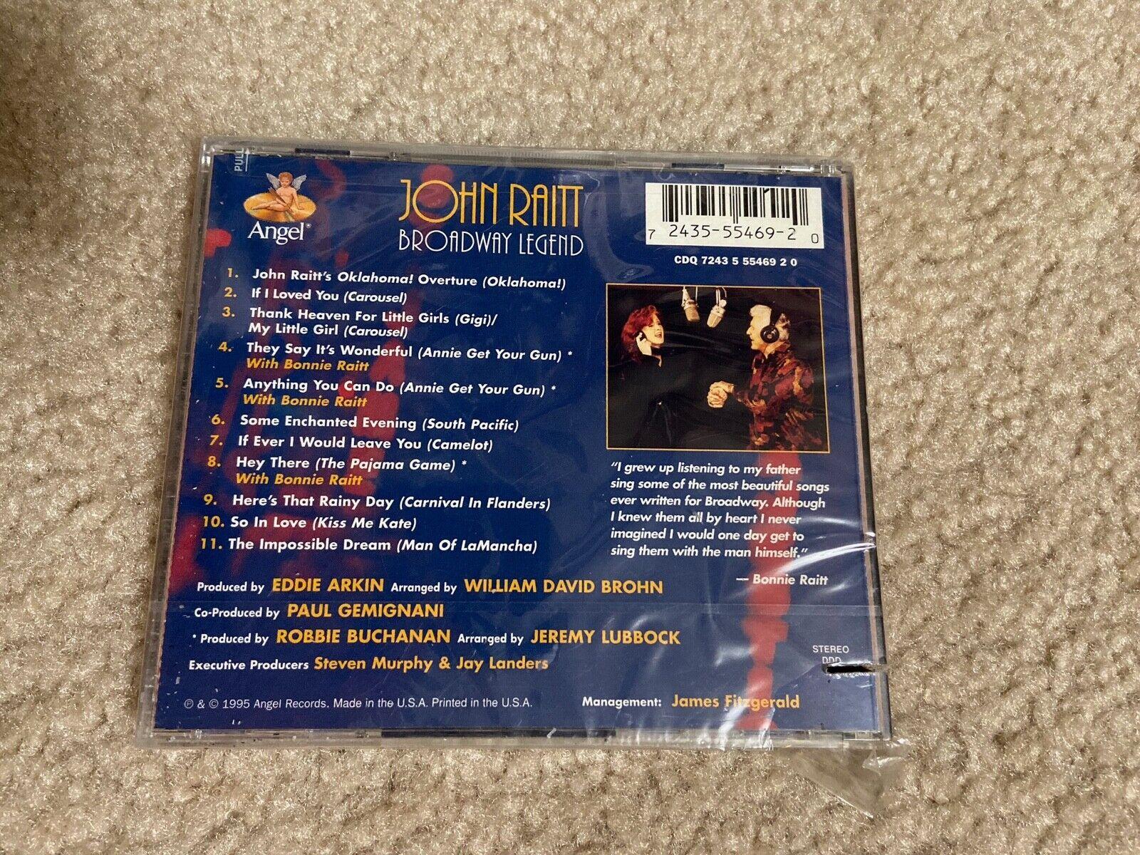 NEW CD DAMAGED PLASTIC CASE John Raitt - Broadway Legend - $12.95