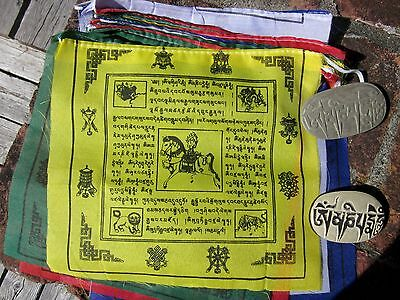 1 LONG STRING 8 SYMBOLS 25 FLAGS TIBETAN BUDDHIST PRAYER FLAGS NEPAL NICE PRINT!