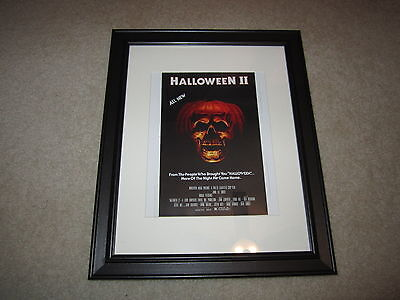 Halloween 2 1981 Michael Myers (Framed Halloween 2 1981 Mini Poster, Michael Myers, RARE 14