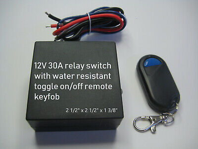 12V 30A relay switch with one button toggle on off remote transmitter RX10A