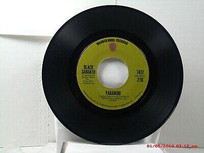 BLACK SABBATH -(45)- PARANOID / THE WIZARD - WARNER BROS. RECORDS 7437  -  1970