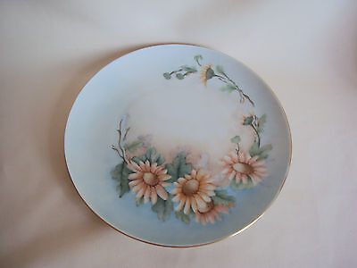 VINTAGE HAND PAINTED GOLD TRIMMED BAVARIA SERVING PLATE MADE IN GERMANY