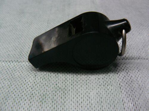 Vintage  Bakelite Police?  Whistle  Dark Brown/ Black